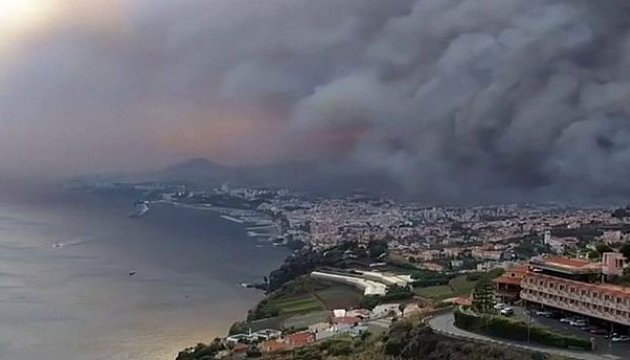 Monitoring of fires on the Portuguese island of Madeira for EMERCOM (Russia) (13.08.16)
